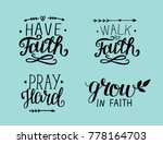 4 hand lettering have faith....