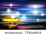 abstract blue white music... | Shutterstock .eps vector #778168414