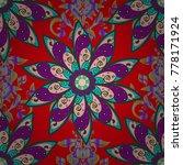 1950s 1960s motifs. retro... | Shutterstock .eps vector #778171924
