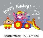 happy holliday   octopus and cat | Shutterstock .eps vector #778174423