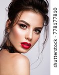 gorgeous young brunette woman... | Shutterstock . vector #778177810