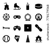leisure icons. set of 16... | Shutterstock .eps vector #778179568