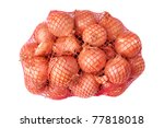 packed with onion isolated on a ... | Shutterstock . vector #77818018