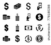 set of 16 income filled icons... | Shutterstock .eps vector #778180288