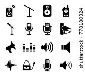 voice icons. set of 16 editable ...   Shutterstock .eps vector #778180324
