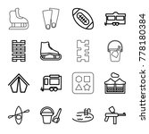 recreation icons. set of 16... | Shutterstock .eps vector #778180384