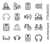 stereo icons. set of 16...