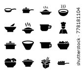 set of 16 soup filled icons... | Shutterstock .eps vector #778181104