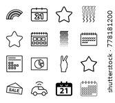 trendy icons. set of 16...
