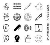 idea icons. set of 16 editable... | Shutterstock .eps vector #778181206
