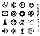 target icons. set of 16...   Shutterstock .eps vector #778181218