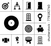 conceptual icons. set of 13... | Shutterstock .eps vector #778182760