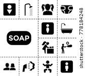 toilet icons. set of 13... | Shutterstock .eps vector #778184248