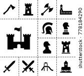 knight icons. set of 13... | Shutterstock .eps vector #778184290