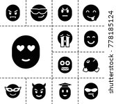 emotion icons set of 13
