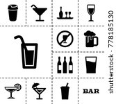alcohol icons. set of 13... | Shutterstock .eps vector #778185130