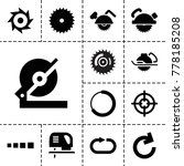 circular icons. set of 13... | Shutterstock .eps vector #778185208