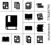 publication icons. set of 13... | Shutterstock .eps vector #778185790