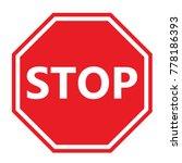 stop sign vector   Shutterstock .eps vector #778186393