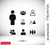people icon  stock vector... | Shutterstock .eps vector #778190734