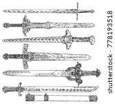 knife  dagger  sword. ancient...