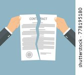 businessman hands tearing apart ... | Shutterstock .eps vector #778195180