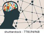 man avatar profile view. mental ... | Shutterstock . vector #778196968