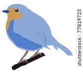 illustration of robin | Shutterstock . vector #77819725