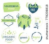 fresh  organic  gluten free ... | Shutterstock .eps vector #778208818