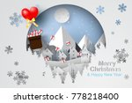 paper art and craft of merry... | Shutterstock .eps vector #778218400