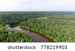 gauja national park aerial view.   Shutterstock . vector #778219903