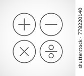 basic mathematical symbols in... | Shutterstock .eps vector #778220140