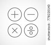 basic mathematical symbols in... | Shutterstock .eps vector #778220140