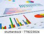 charts graphs paper. financial... | Shutterstock . vector #778223026