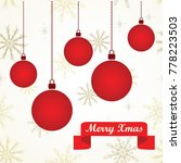 Simple Greeting Card With Red...