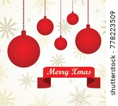 simple greeting card with red... | Shutterstock .eps vector #778223509