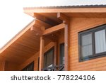 part of the facade of a wooden... | Shutterstock . vector #778224106