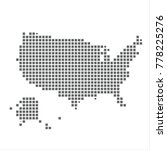 pixel map of united states....
