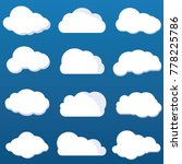 multiple cloud icon vector... | Shutterstock .eps vector #778225786