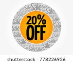 20  off sale words cloud ... | Shutterstock .eps vector #778226926