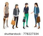 women collection of models in... | Shutterstock .eps vector #778227334