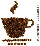 cup of coffee made by beans....   Shutterstock . vector #778228654