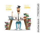 guy in learnin process. man...   Shutterstock .eps vector #778230160