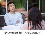 handsome asian man on an... | Shutterstock . vector #778230874