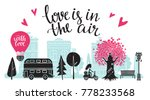 valentines day card. panorama... | Shutterstock .eps vector #778233568