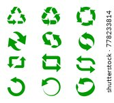 set of green recycle signs.... | Shutterstock .eps vector #778233814