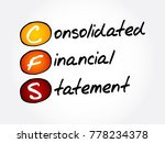 cfs   consolidated financial... | Shutterstock .eps vector #778234378