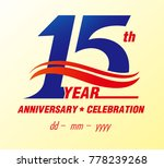 15 anniversary colors with... | Shutterstock .eps vector #778239268
