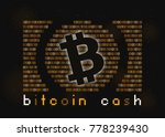 bitcoin cash symbol  gold... | Shutterstock . vector #778239430