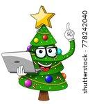 xmas christmas tree mascot... | Shutterstock .eps vector #778242040